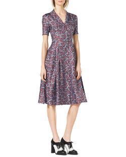 Michael Kors   - Paisley-Print Silk Shirtdress