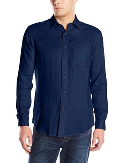 Nautica  - Solid Linen Long-Sleeve Button-Front Shirt