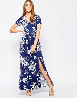 Club L  - Large Floral Print Maxi Dress