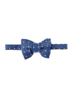 Tom Ford - Herringbone Polka-Dot Bow Tie