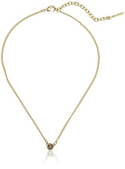 "T Tahari  - ""Essentials"" Mini Signature Gold Pendant Necklace"