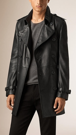 Burberry - Napa Leather Trench Coat