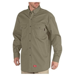 Dickies - Flame Resistant Long Sleeve Twill Button-Down Shirt