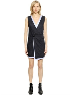 Each x Other - Pinstriped Wool & Cotton Poplin Dress