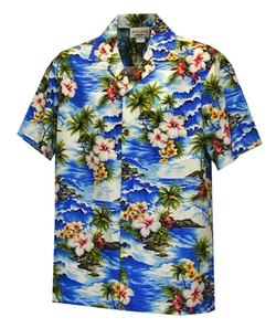 Pacific Legend - Diamond Head Ocean Wave Shirt