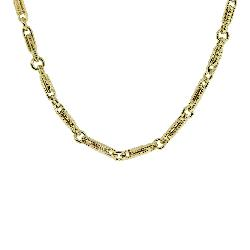 Raymond Lee Jewelers - 18kt Yellow Gold Fancy Link Chain Necklace