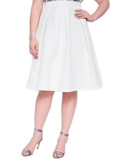 Eloquii - Geometric Quilted Midi Skirt
