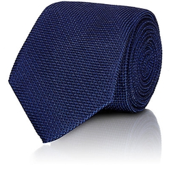 Isaia - Textured Grid-Pattern Necktie
