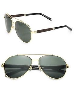 Montblanc - Metal Aviator Sunglasses