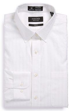 Nordstrom -  Smartcare Trim Fit Tonal Stripe Dress Shirt