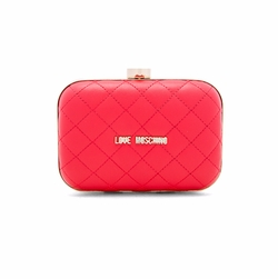 Love Moschino  - Quilted Box Clutch On A Chain