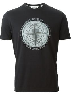 Stone Island  - Compass Print T-Shirt