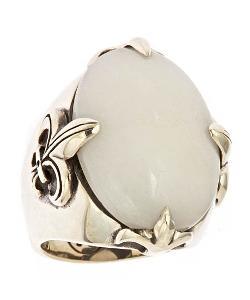 Femme Metale  - Snow Quartz Noble Fleur Ring