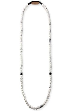 Domo Beads  - White Howlite Premium Necklace