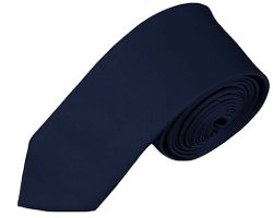 "Romario Manzini  - Mens Solid Color 2"" Skinny Tie"
