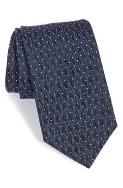 Yves Saint Laurent - Logo Jacquard Woven Silk Tie