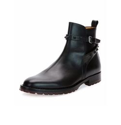 Valentino - Rockstud Leather Chelsea Boots