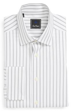David Donahue  - Regular Fit Stripe Dress Shirt