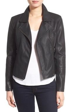 Cupcakes And Cashmere  - Sid Faux Leather Moto Jacket