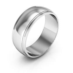 i Wedding Band - 14K White Gold Men