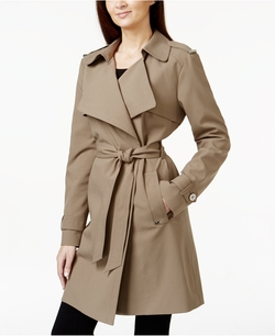 Michael Michael Kors - Draped Asymmetrical Trench Coat