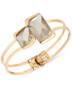 Kenneth Cole New York - Gold-Tone Double Stone Bangle Bracelet