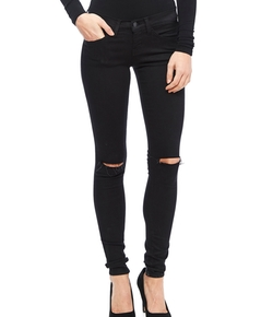 Flying Monkey - Jet Black Distressed Skinny Jeans