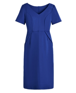 Be Spoke - Fit V-Neck Ponte Dress