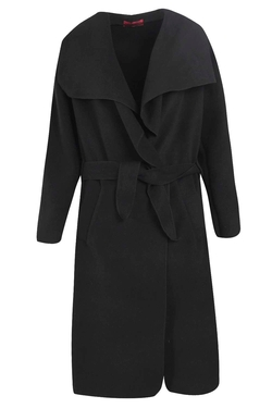 Boohoo  - Kate Belted Shawl Collar Coat