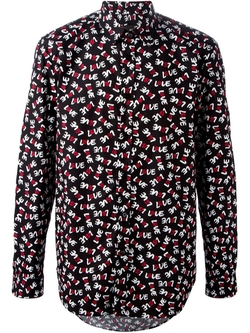 Love Moschino   - All-Over Love Print Shirt
