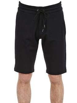 Dirk Bikkembergs  - Stretch Cotton Fleece Shorts
