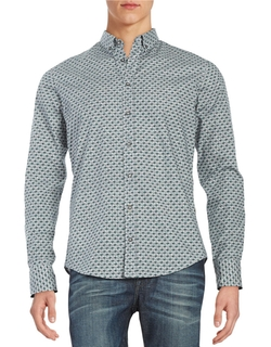 Hugo Boss - Patterned Cotton Sportshirt