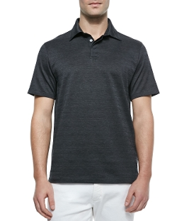 Ermenegildo Zegna   - Spread-Collar Solid Polo Shirt