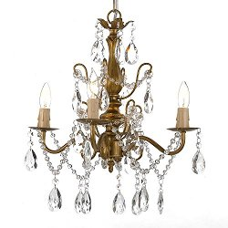 Dean - Wrought Iron and Crystal Chandelier