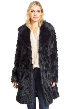 Eliza J - Shaggy Faux Fur Coat