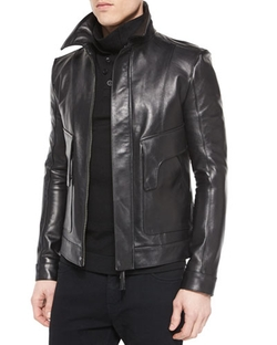 Helmut Lang - Leather Aviator Jacket