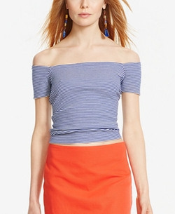 Polo Ralph Lauren - Striped Off-The-Shoulder Top