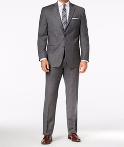 Michael Michael Kors - Classic-Fit Gray Solid Flannel Suit