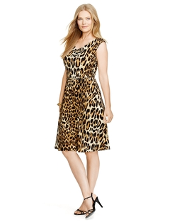 Ralph Lauren - Leopard-Print Jersey Dress