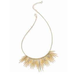Abs By Allen Schwartz - Gold-Tone Pavé Crystal Spiked Collar Necklace