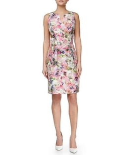 Kay Unger New York - Floral-Print Sheath Dress