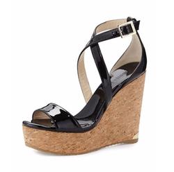 Jimmy Choo - Portia Crisscross Platform Wedge Sandals