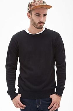 21 Men - Classic Crew Neck Sweater