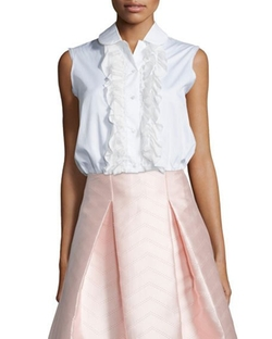 Alexis  - Orly Sleeveless Ruffled Blouse