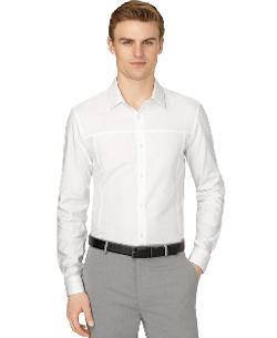 Calvin Klein  - Dobby Roll-Tab Sleeve Slim-Fit Shirt