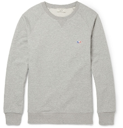 Maison Kitsuné - Loopback Cotton-Jersey Sweatshirt