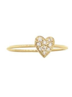 Jennifer Meyer  - Diamond Heart Stacking Ring