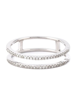 Wouters & Hendrix Gold - Diamond Double Stacked Ring
