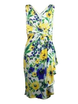 Ralph Lauren - Sleeveless Floral Print Dress