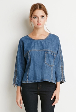 Forever21 - Boxy Denim Top